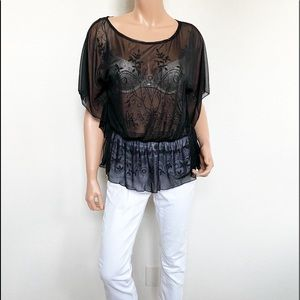 Jessica Sheer Butterfly Style Top